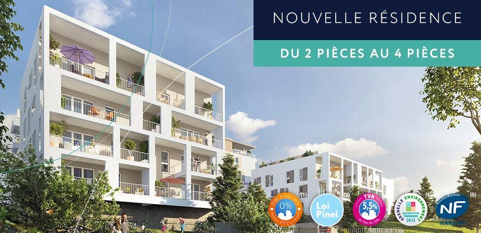 Appartement T2 38m² avec terrasse 8m² et parking