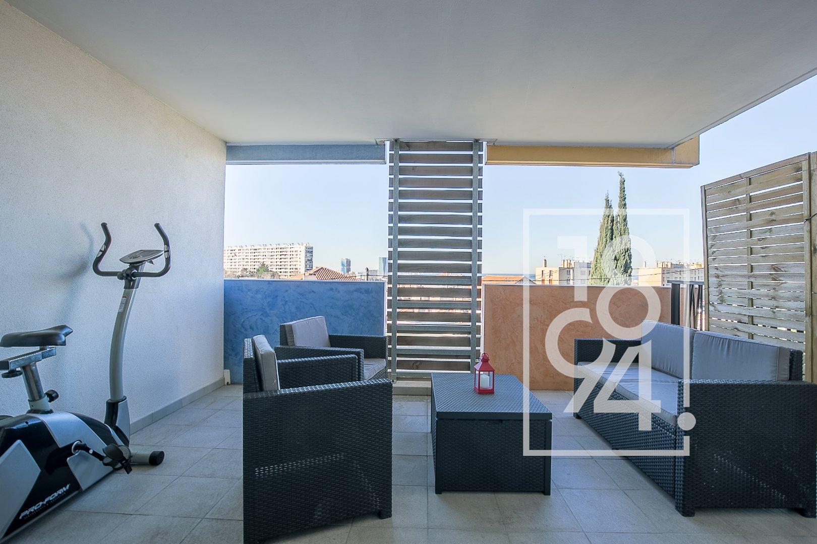EXCLUSIVITE = T2 de 42 m² avec terrasse de 17 m² - LE CANET