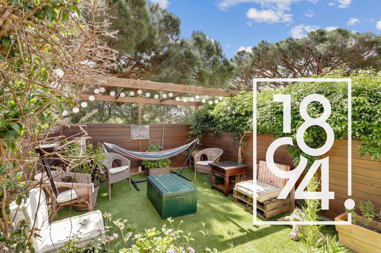 Mazet lumineux T3 de 50m2 avec jardin privatif