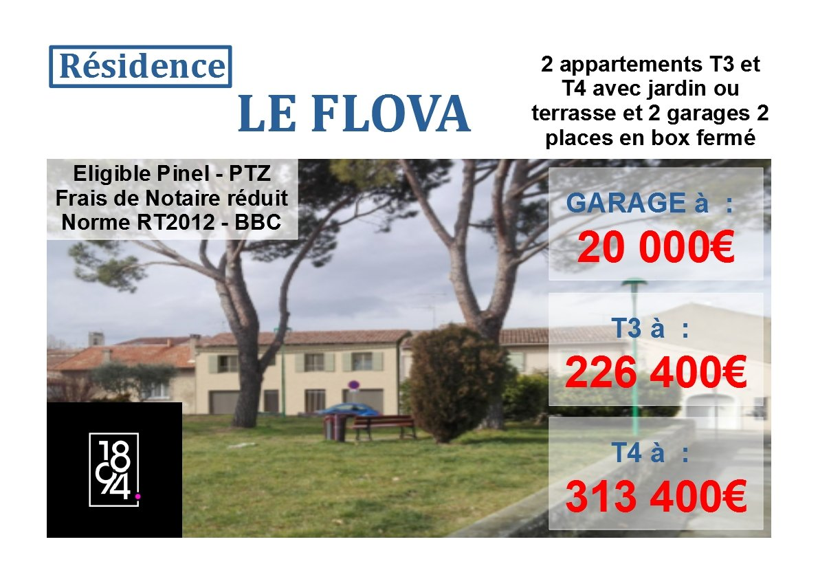 Appartement T3 duplex de 64m² avec jardin à Pertuis