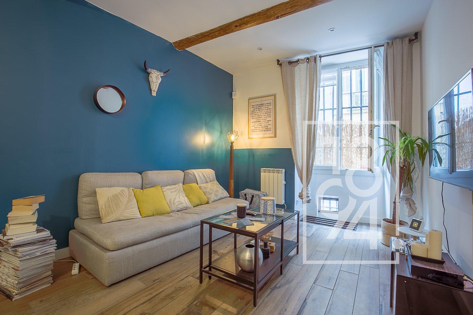 Appartement de 25m2 rénové dans un quartier prisé du Centre ville d'Aix
