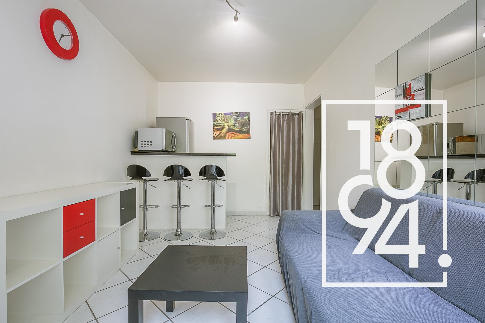 Appartement T2 26m2 avec balcon quartier Brunet