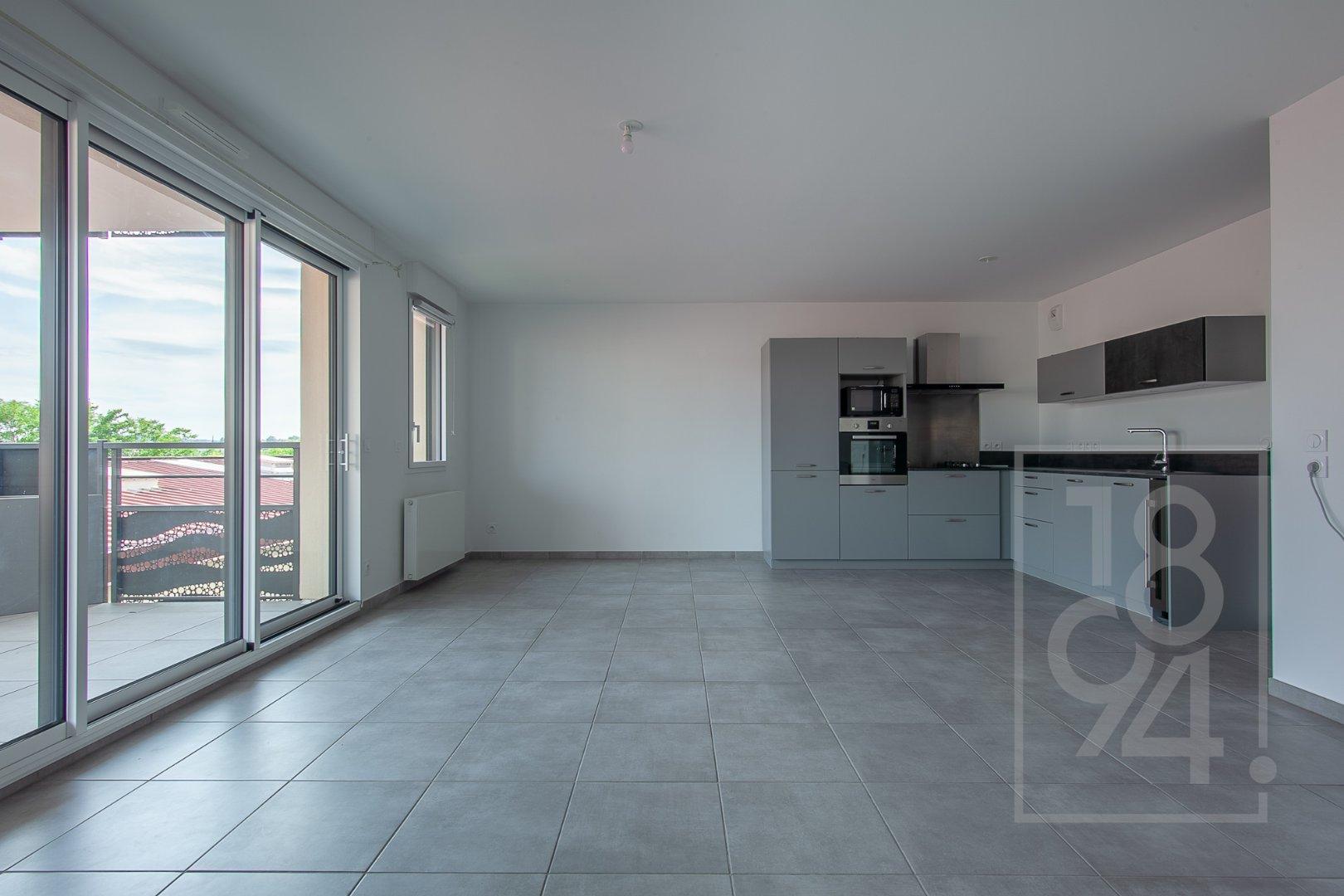 Appartement T3 neuf 68m² avec terrasse et garage vendu loué