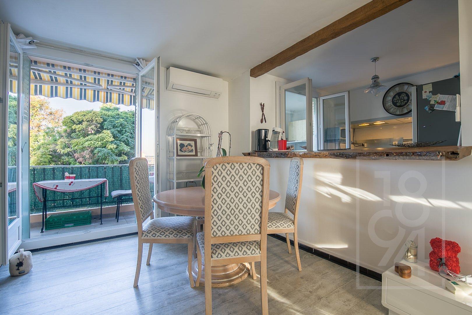 Appartement T3 54m² dans une résidence sécurisée avec parc