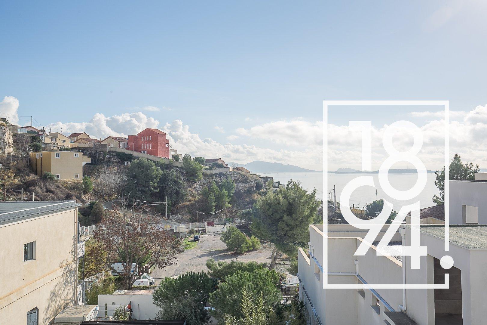 T4 dans résidence de standing avec vue mer dans les hauteurs de l'Estaque