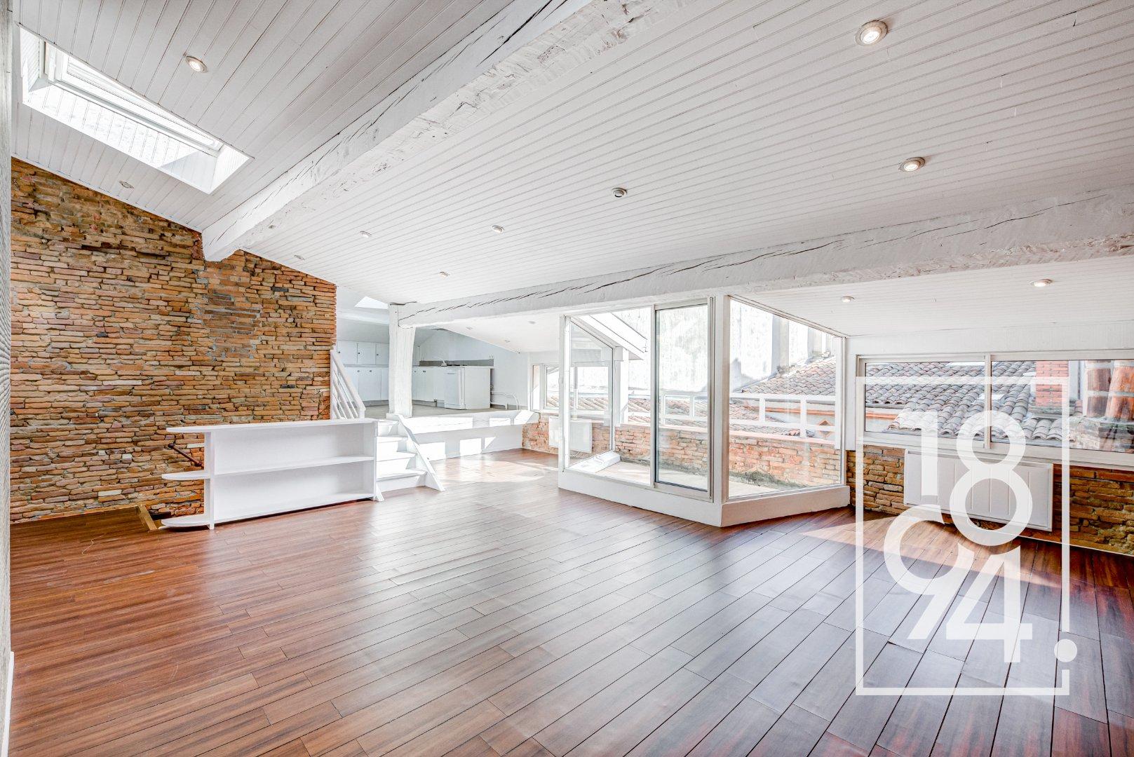 BIEN D'EXCEPTION!!! Appartement T3/T4 de 135m² avec terrasse plein Sud, hyper centre, Toulouse 31000